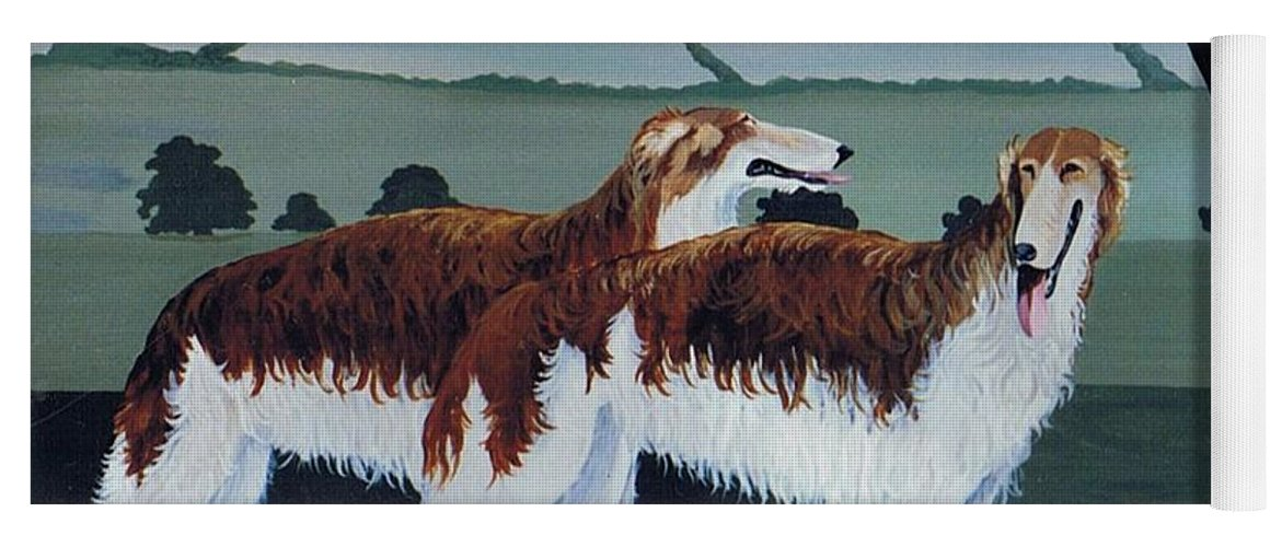 Borzoi Yoga Mat featuring the photograph Untitled by Maggie Rowe