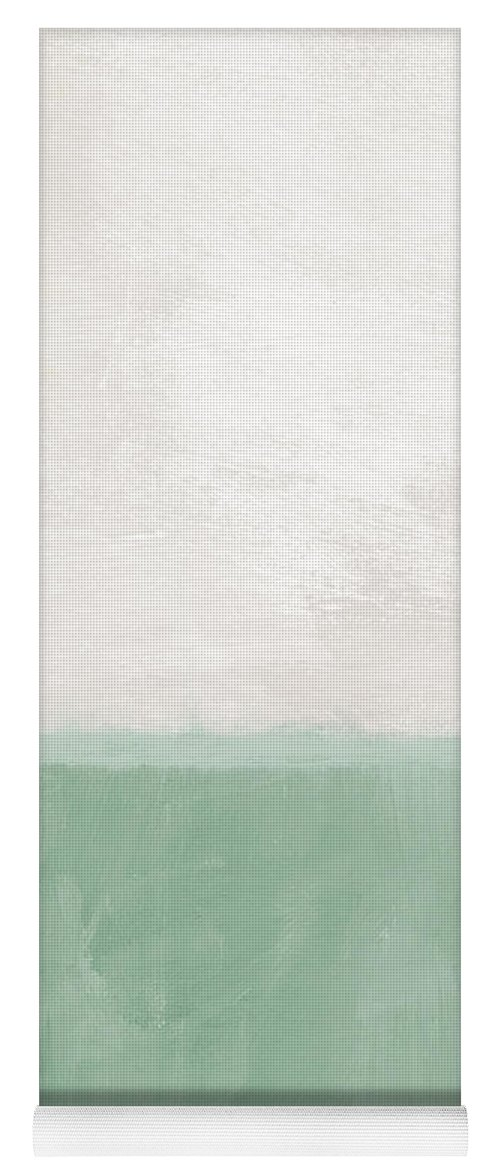 Abstract Landscape Yoga Mat featuring the painting Upon Our Sighs by Linda Woods