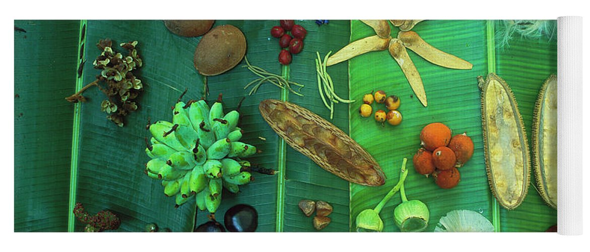 00760014 Yoga Mat featuring the photograph Variety Of Seeds And Fruits by Christian Ziegler