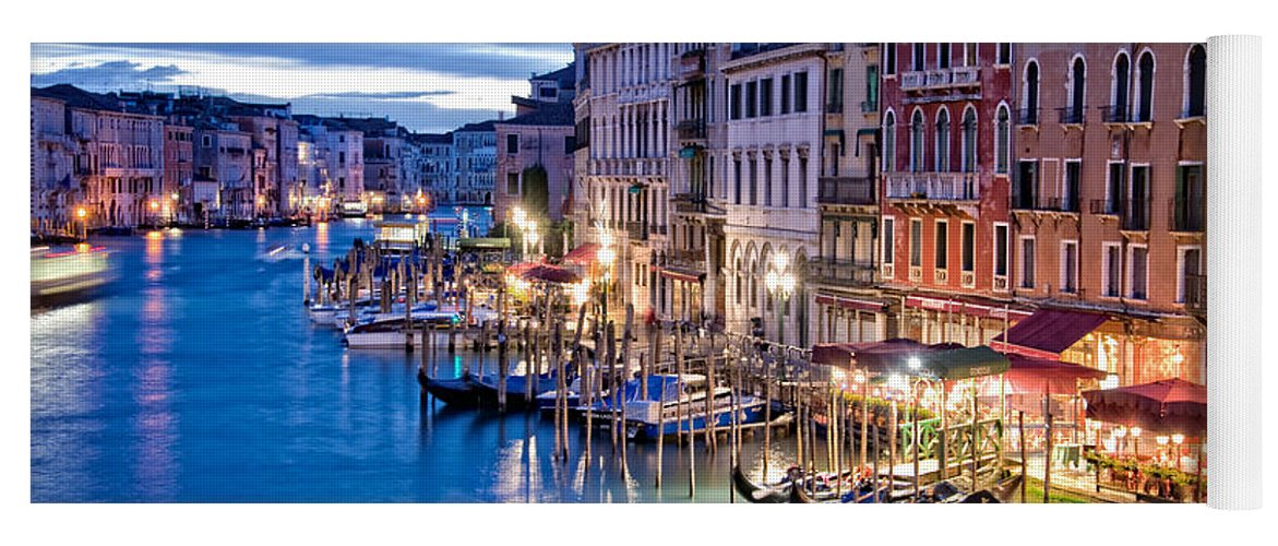 Venice Yoga Mat featuring the photograph Venetian Blue by Delphimages Photo Creations