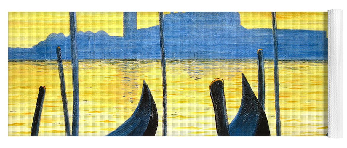 Venice Yoga Mat featuring the painting Venezia Venice Italy by Jerome Stumphauzer