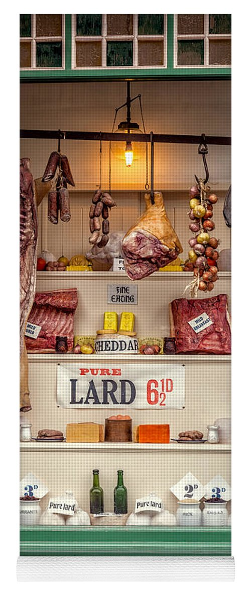 British Yoga Mat featuring the photograph Victorian Butchers by Adrian Evans
