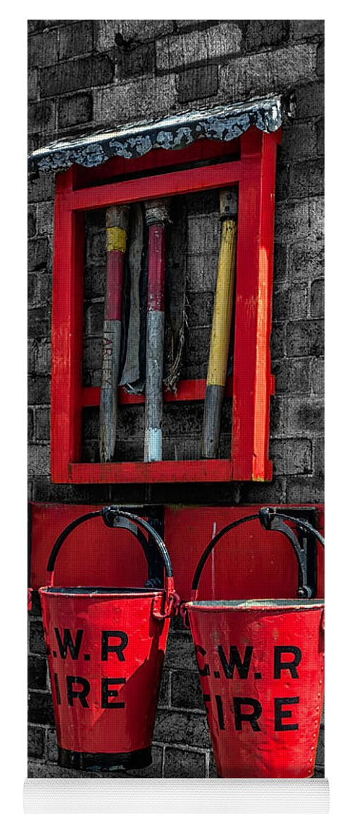 British Yoga Mat featuring the photograph Victorian Fire Buckets by Adrian Evans