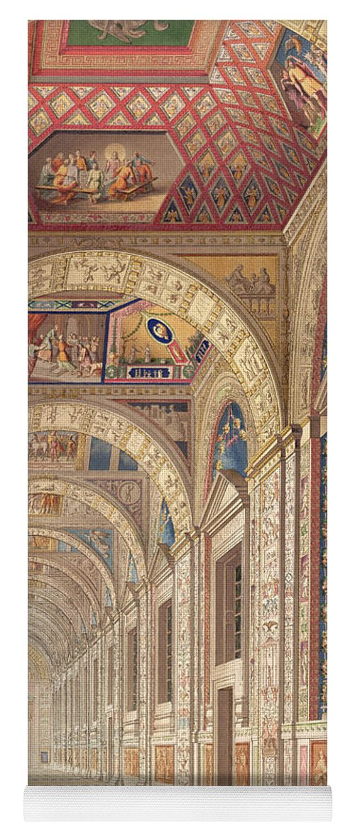 Renaissance Design Yoga Mat featuring the drawing View Of The Second Floor Loggia by Italian School