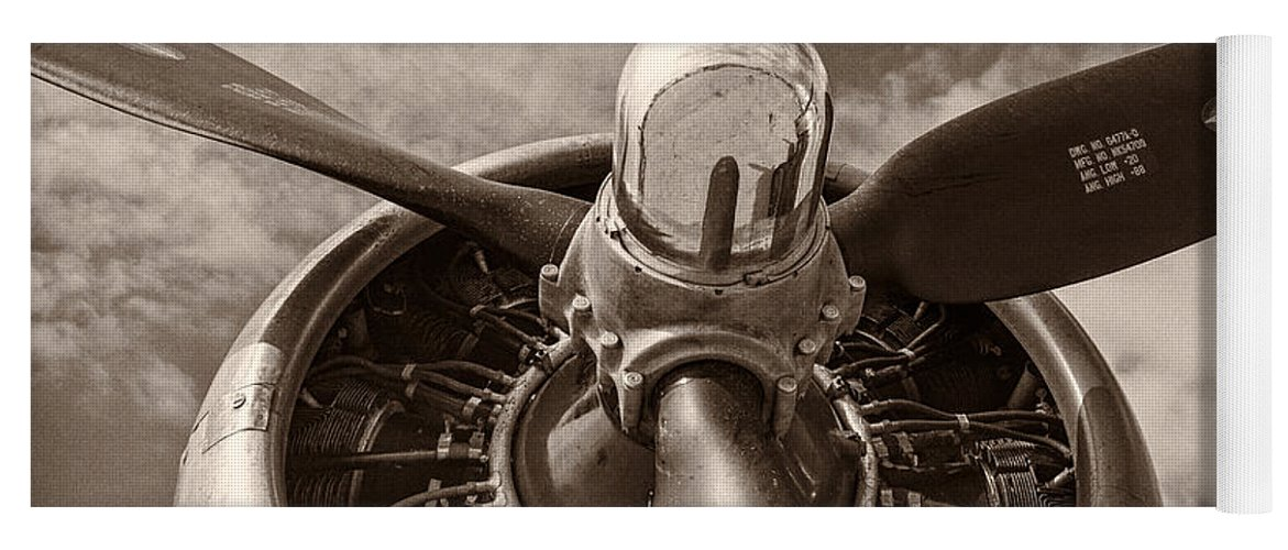 3scape Yoga Mat featuring the photograph Vintage B-17 by Adam Romanowicz