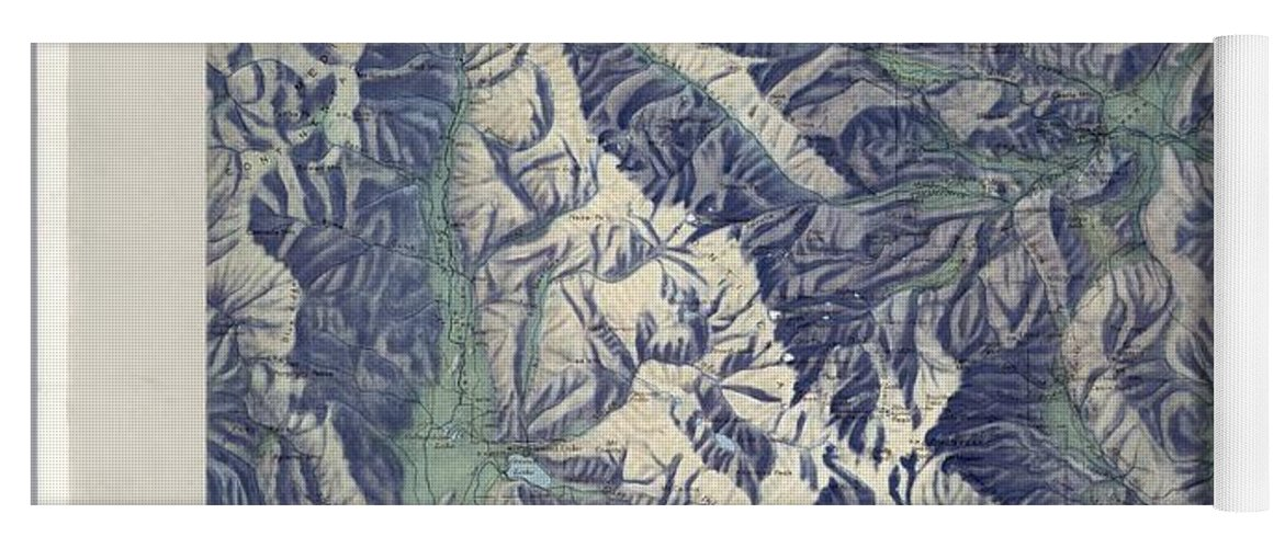 Vintage Map Of Rocky Mountain National Park - 1914 Yoga Mat