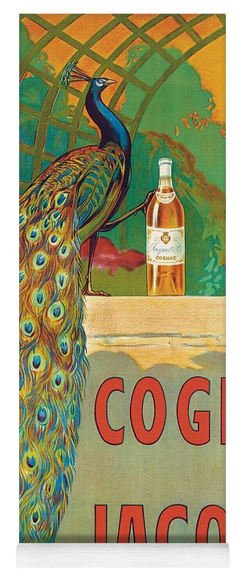Bird Yoga Mat featuring the painting Vintage Poster Advertising Cognac by Camille Bouchet