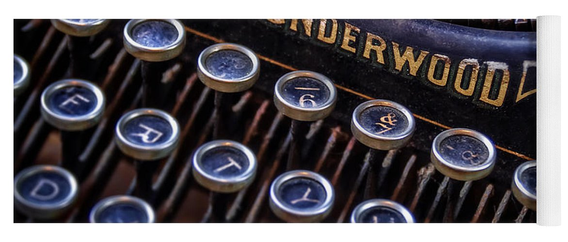 Retro Yoga Mat featuring the photograph Vintage Typewriter 2 by Scott Norris