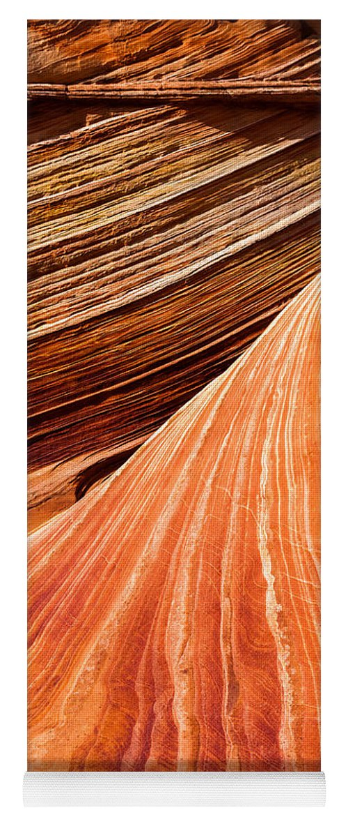 Wave Lines Yoga Mat featuring the photograph Wave Lines by Chad Dutson