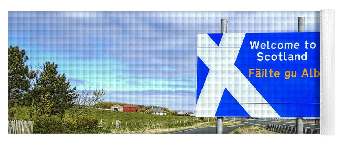 Scotland Yoga Mat featuring the photograph Welcome To Scotland by Evelina Kremsdorf