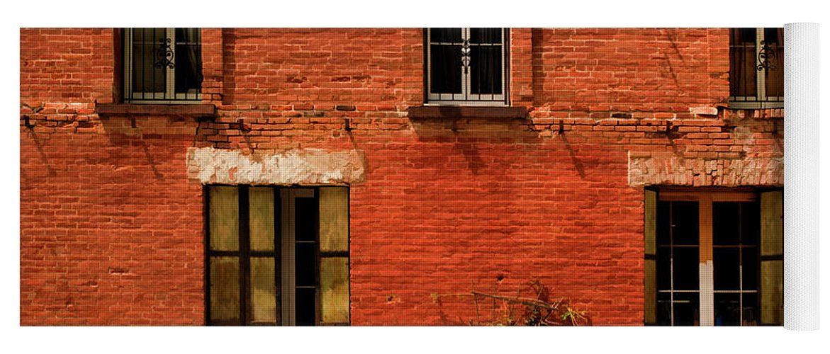 Windows Yoga Mat featuring the photograph Windows And Doors by Mick Burkey