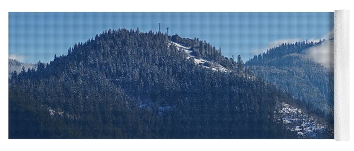 Panorama Yoga Mat featuring the photograph Winter And Mt Baldy Panorama by Mick Anderson
