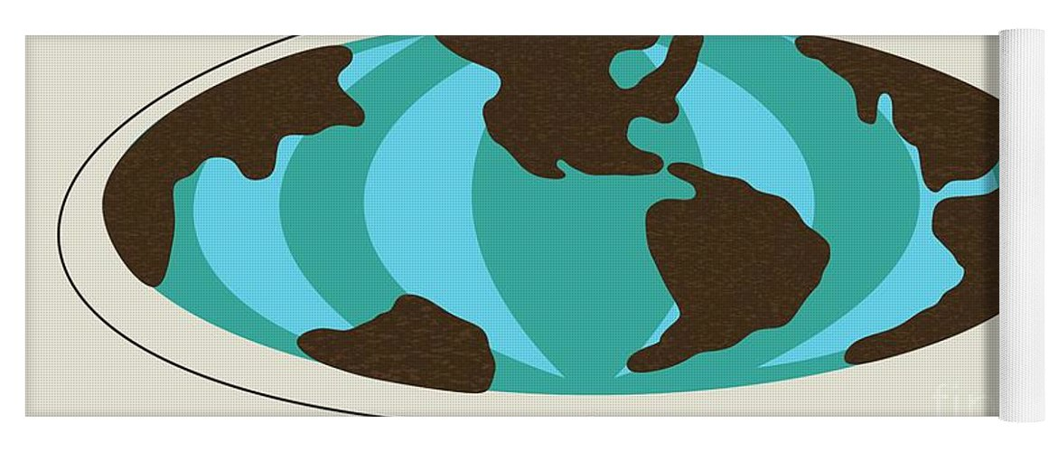 Witco world map yoga mat for sale by donna mibus mid century modern yoga mat featuring the digital art witco world map by donna mibus gumiabroncs Gallery