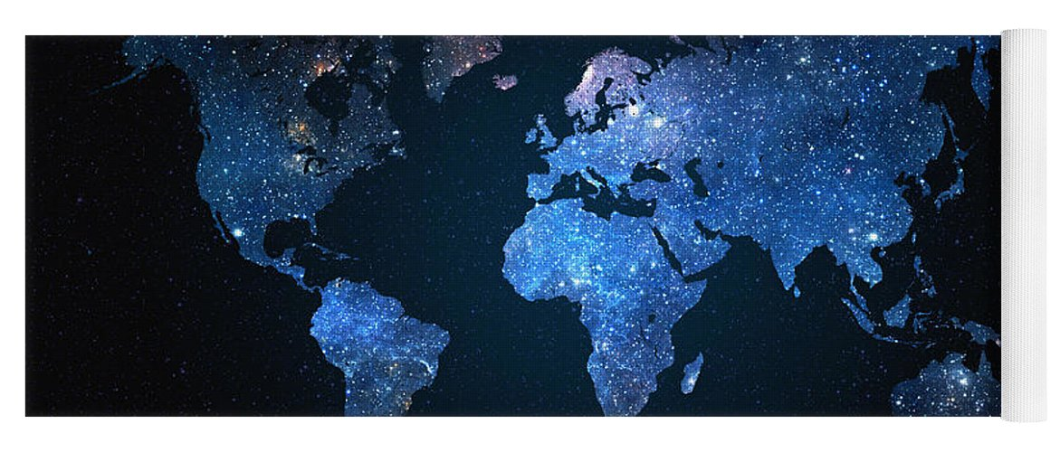 World map stars yoga mat for sale by zapista map of the world yoga mat featuring the digital art world map stars by zapista gumiabroncs Gallery