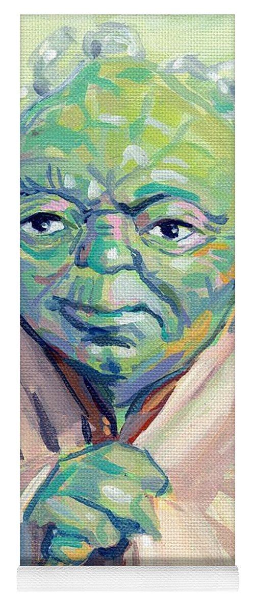 Yoda Yoga Mat featuring the painting Yoda by Kimberly Santini