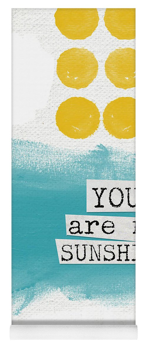Love Yoga Mat featuring the painting You Are My Sunshine- abstract mod art by Linda Woods