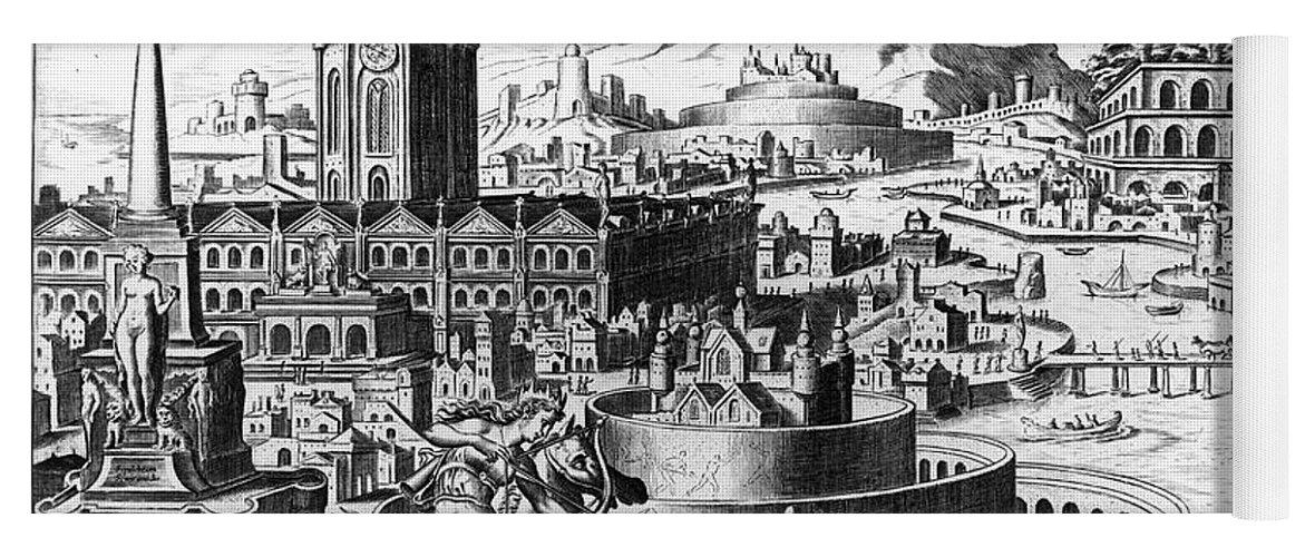1638 Yoga Mat featuring the photograph Babylon: Hanging Gardens by Granger