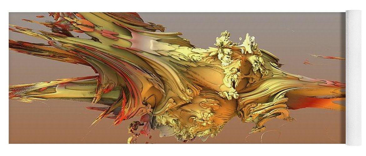 Fractal Yoga Mat featuring the digital art Fractal Life by Ron Bissett