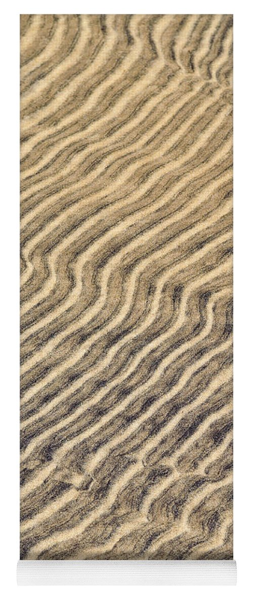 Sand Yoga Mat featuring the photograph Sand Ripples In Shallow Water by Elena Elisseeva