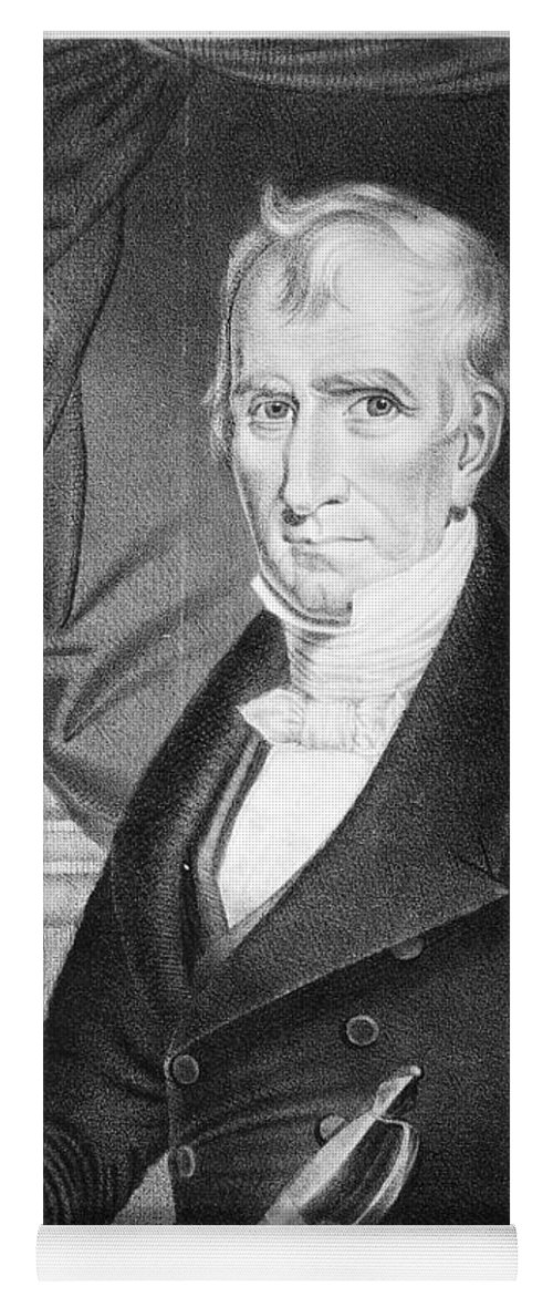 1841 Yoga Mat featuring the photograph William Henry Harrison by Granger