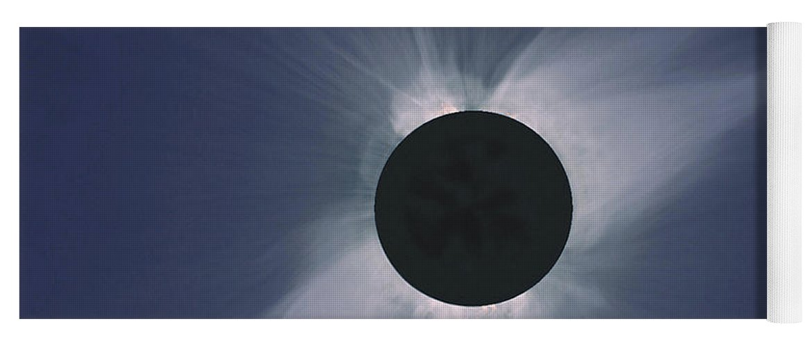 Solar Eclipse Yoga Mat featuring the photograph Solar Eclipse by Nasa