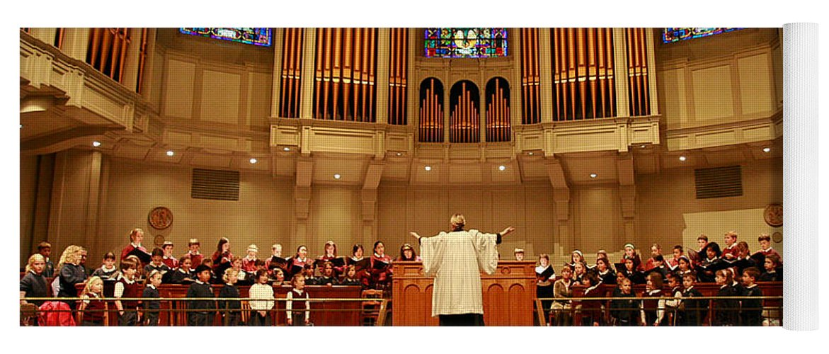 Choir St. James Cathedral Yoga Mat featuring the photograph St James Cathedral by Mike Penney