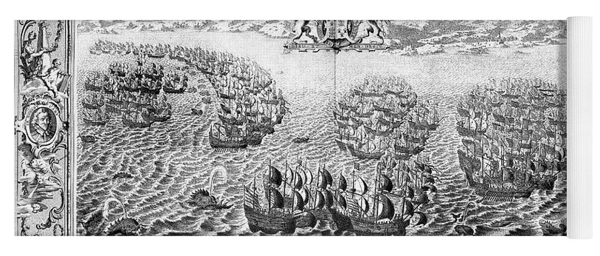 1588 Yoga Mat featuring the photograph Spanish Armada, 1588 by Granger
