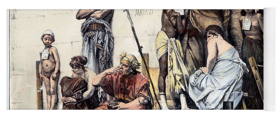 Ancient Rome: Slave Market Yoga Mat for Sale by Granger