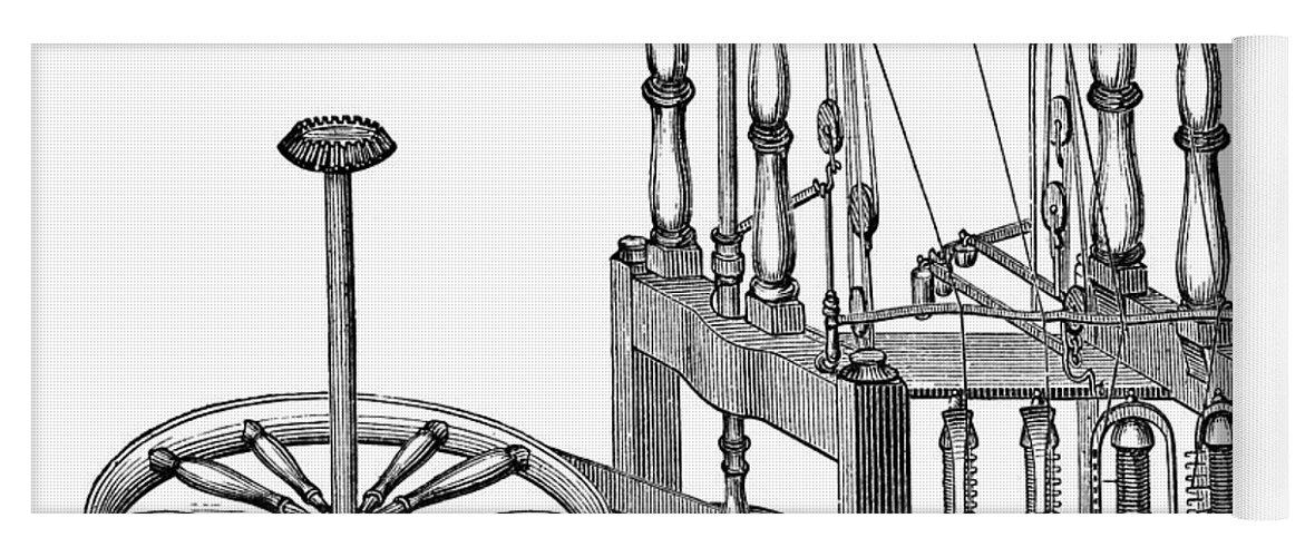 Arkwright: Spinning Frame Yoga Mat for Sale by Granger