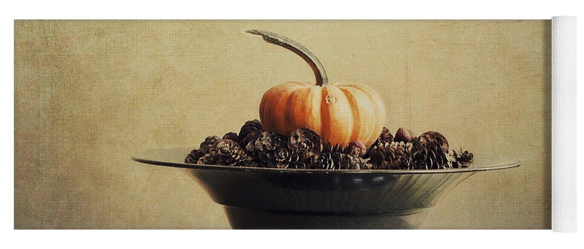 Bowl Yoga Mat featuring the photograph Autumn by Priska Wettstein