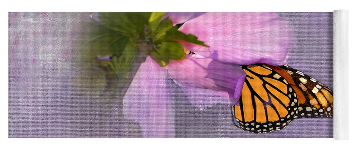 Monarch Butterfly Yoga Mat featuring the photograph Beautiful In Pink by Betty LaRue