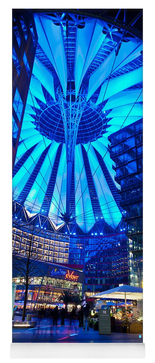 Sony Center Yoga Mat featuring the photograph Blue Berlin by Mike Reid