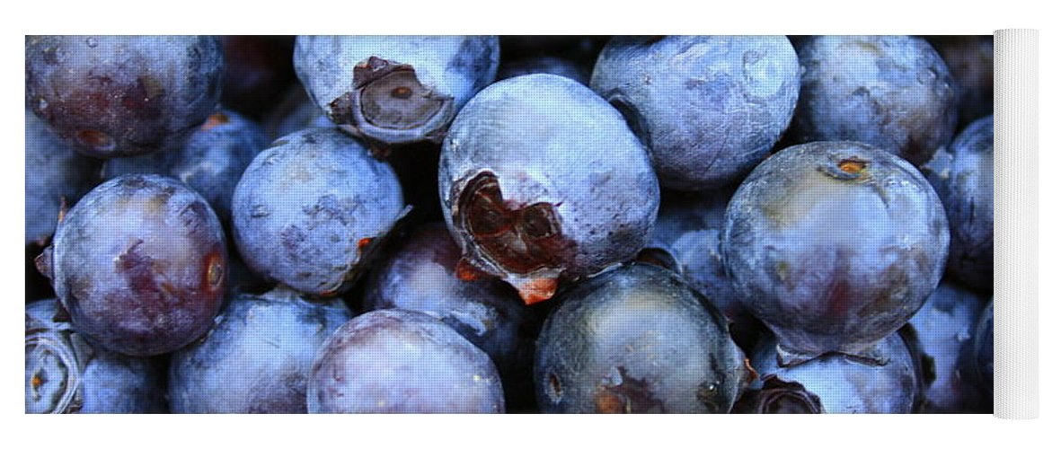 Food Yoga Mat featuring the photograph Blueberries by Carol Groenen