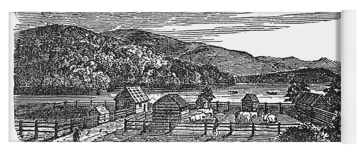 1820 Yoga Mat featuring the photograph Canada: Farm, C1820 by Granger