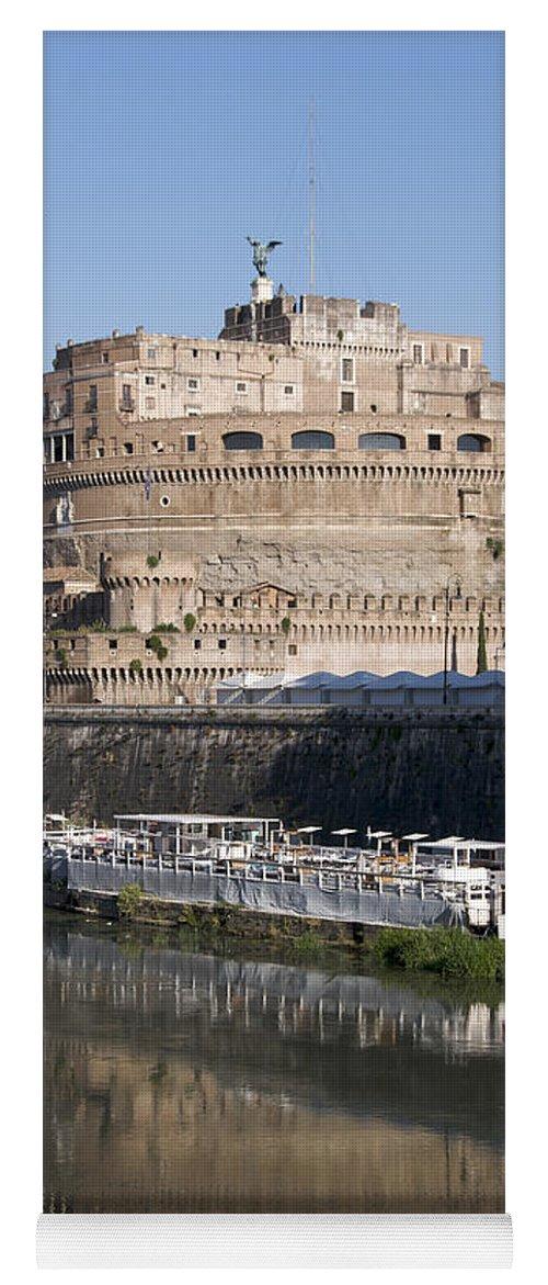 Tiber Yoga Mat featuring the photograph Castel Sant'angelo Castle. Rome by Bernard Jaubert
