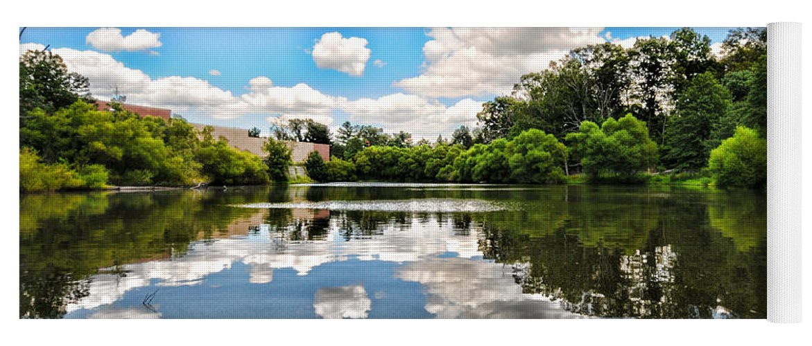 Clouds Yoga Mat featuring the photograph Clouds Reflection On Water by Paul Ward