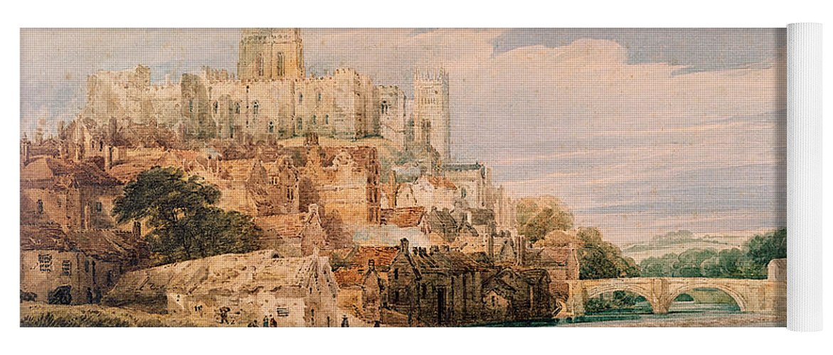Durham Castle And Cathedral Yoga Mat For Sale By Thomas Girtin