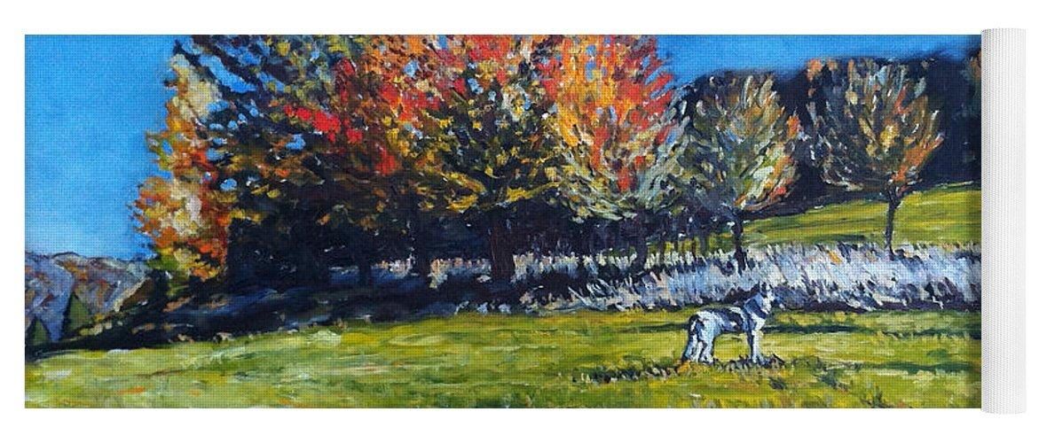 Landscape Yoga Mat featuring the painting Elli by Pablo de Choros
