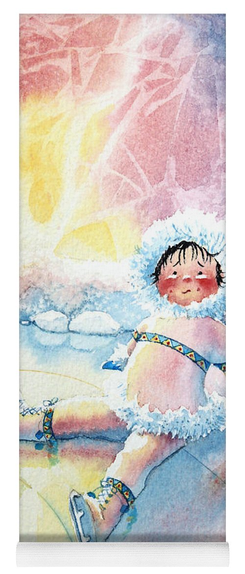 Childrens Book Illustrator Yoga Mat featuring the painting Figure Skater 10 by Hanne Lore Koehler