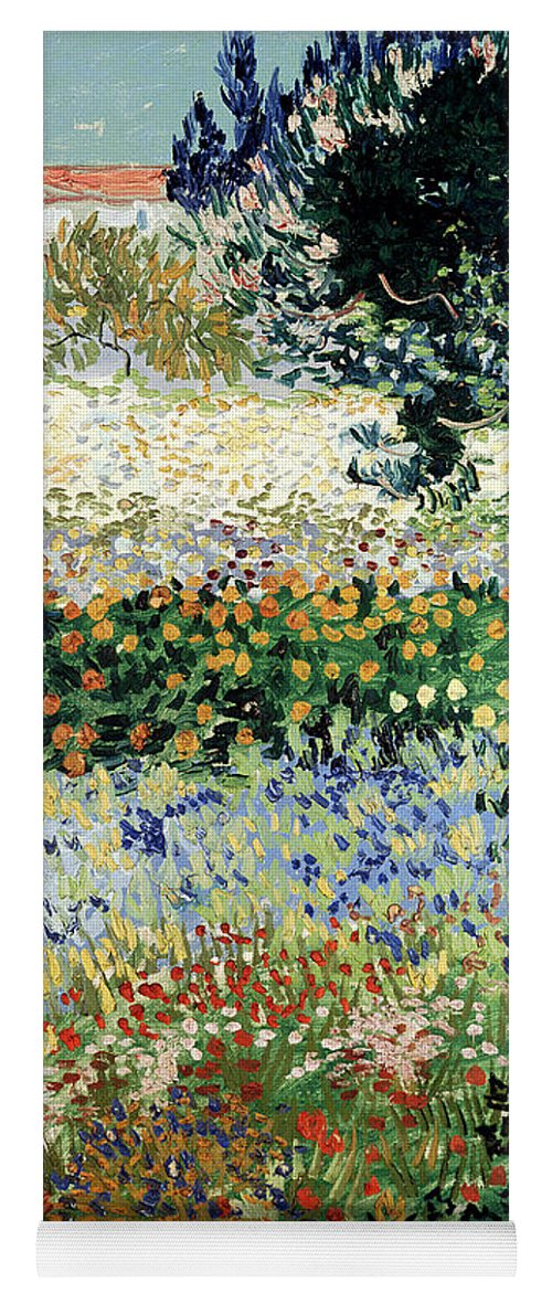 Garden In Bloom Yoga Mat featuring the painting Garden In Bloom by Vincent Van Gogh