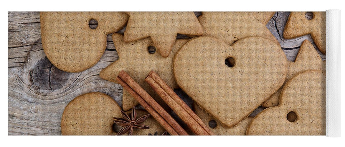 Ginger Yoga Mat featuring the photograph Gingerbread by Nailia Schwarz