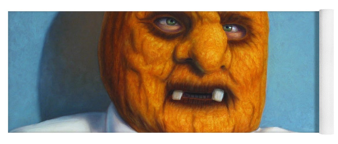 Halloween Yoga Mat featuring the painting Heavy Vegetable-head by James W Johnson