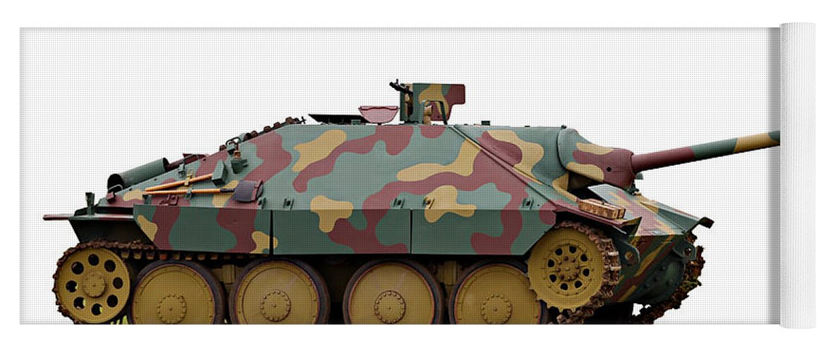 Action Yoga Mat featuring the photograph Hetzer Tank Destroyer by Paul Fell