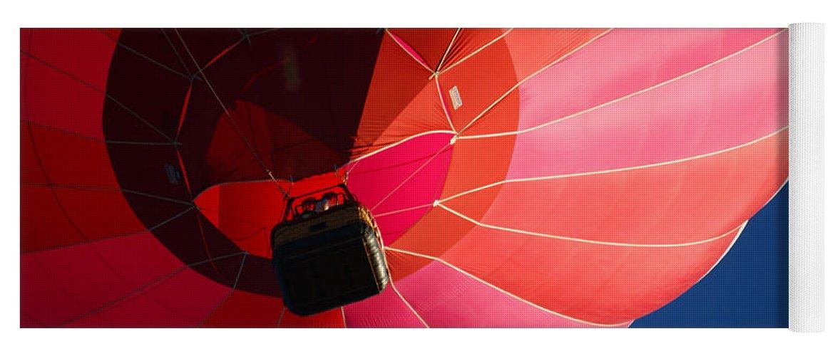 Balloons Yoga Mat featuring the photograph Hot Air Balloon 4 by Ernie Echols