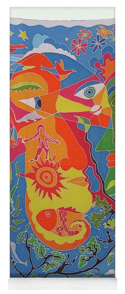 Nature Yoga Mat featuring the painting Nature by Rollin Kocsis