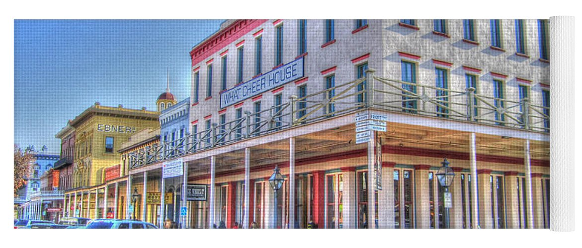 Street Corner Yoga Mat featuring the photograph Old Towne Sacramento by Barry Jones