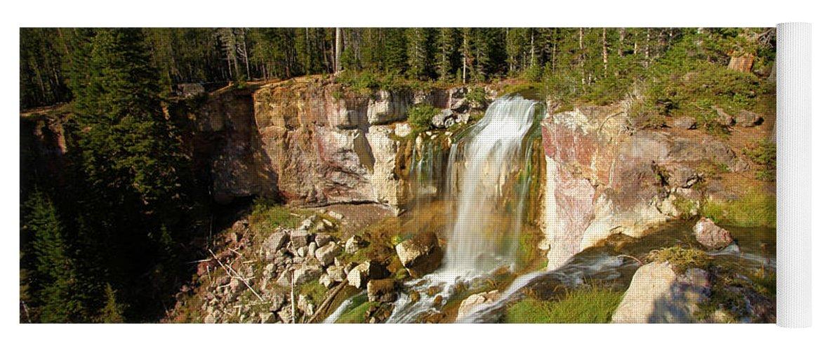 Paulina Falls Yoga Mat featuring the photograph Pauina Falls Overlook by Adam Jewell