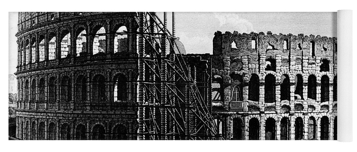 1864 Yoga Mat featuring the photograph Rome: Colosseum, C1864 by Granger
