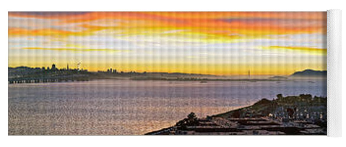 San Francisco Yoga Mat featuring the photograph San Francisco Bay Wide View by Kelley King