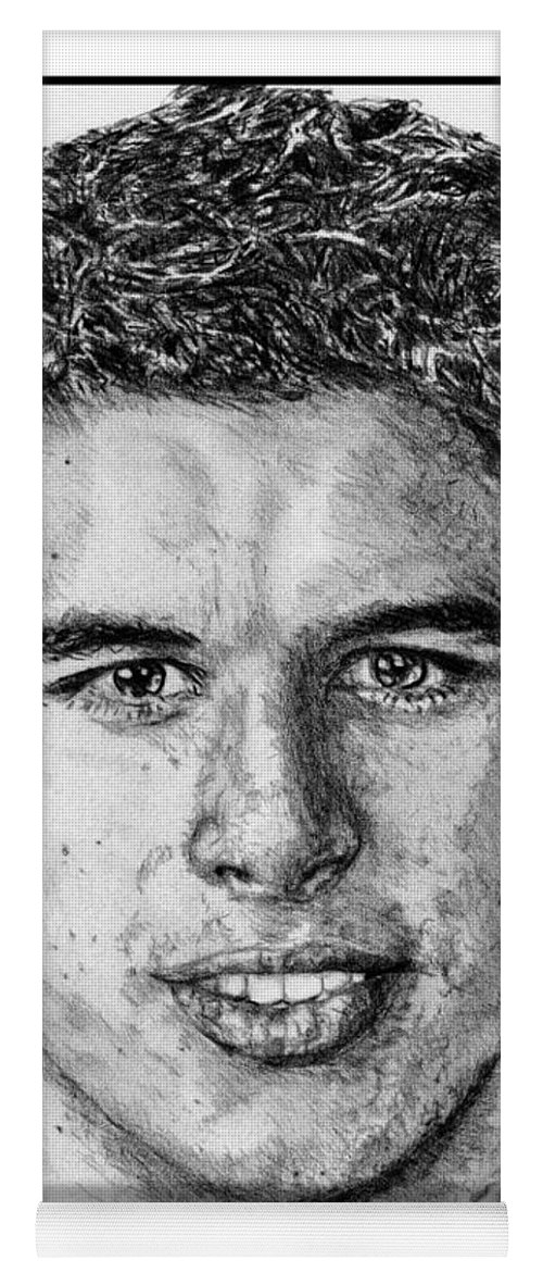 Sidney Crosby Yoga Mat featuring the drawing Sidney Crosby In 2007 by J McCombie